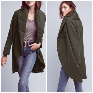 Anthropologie Quilted Cozy Coat